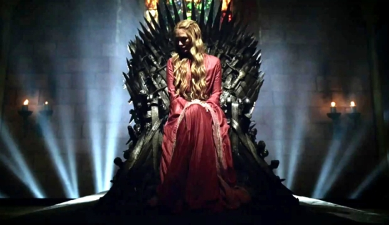 HBOs-Game-of-Thrones-Cersei-Lannister-sits-on-the-Iron-Throne
